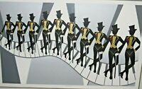 """Unframed Artist Proof Serigraph """"Dancin"""" - Fox - Art Deco Dancers On Piano Keys"""