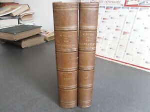 VICTOR HUGO LES MISERABLES JULES ROUFF 2 TOMES 5 PARTIES COMPLET