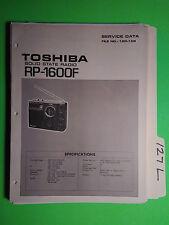 Toshiba rp-1600f service manual original repair book solid state radio