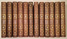 12 Vol Set: Complete Works of Robert Burns - 1896 Full Leather Fine Binding Rare