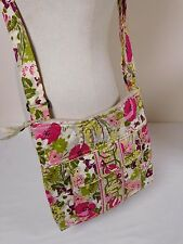 "Vera Bradley Hipster Crossbody Shoulder Bag Top Zip Floral ""Make Me Blush"""