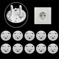 10pcs Protection Security Child Electric Socket Outlet Plug Two Phase Safe Lock