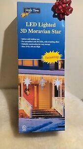 "NEW 19"" multi color LED Lighted 3D Star of Bethlhem Hanging Christmas Decor"