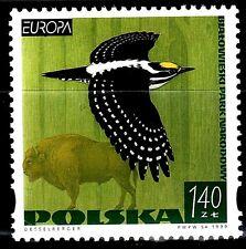 SELLOS TEMA EUROPA 1999 POLONIA FAUNA AVES RESERVAS NATURALES 1v.