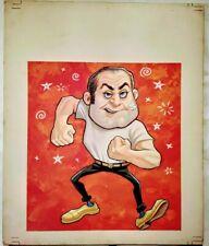 """Vintage Original Gouache by Lloyd Rognan """"Brawler"""""""