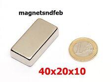 Blockmagnet Neodym-Magnete 40x20x10 Quader