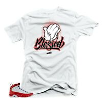 Shirt to Match Jordan 9 Gym Red Sneakers Tees-Blessed White