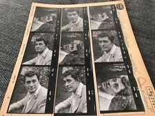 JEAN CLAUDE PASCAL : PLANCHE CONTACT ORIGINALE DE 1965