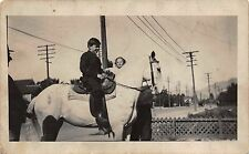 Real Photo Postcard Children with a Horse in Pasadena, California~112370