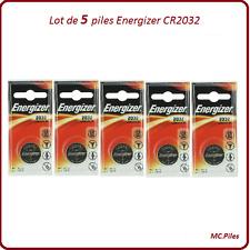 Set de 5 pilas de botón CR2032 litio Energizer
