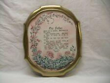"""Home Interior Homco""""Our Father""""Picture""""The Lord's Prayer"""