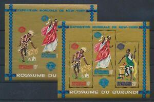LN74413 Burundi perf/imperf New York expo sheets MNH