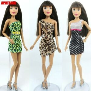 """Sexy One-Shoulder Party Dress Vestido Outfits Clothes for 11.5"""" Doll Clothes 1/6"""