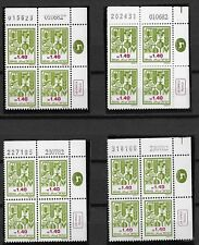 ISRAEL - SEVEN SPECIES - 1.40 A Plate Blocks - SS.5 AND 6 SET INCL. COLOR CROSS