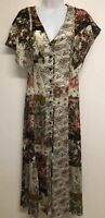 NWT ZARA MULTICOLOURED FLORAL PRINT LONG FLOWING DRESS SLIT Size XS 7938/124