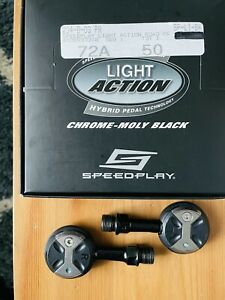 Speedplay Light Action Chrome-Moly Road Bike Clipless Pedals black