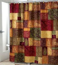 Rustic Pine Cone Shower Curtain, Earth Tones, Durable, Machine Washable, 70 x 72