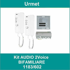 URMET 1183/602 KIT AUDIO 2 VOICE  BIFAMILIARE MIRO e SINTHESI S2