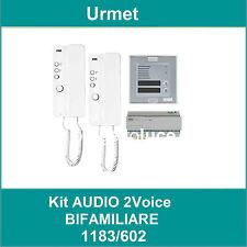 URMET 1183/602 KIT AUDIO 2 VOICE  BIFAMILIARE MIRO e SINTHESI S2