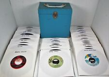 Lot of 50 - ROCK POP SOUL - 45 rpm Record In Hard Storage Carry Case
