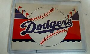 Vintage Baseball 1960's LOS ANGELES DODGERS 4.5 X 3.5 Sticker Decal RARE