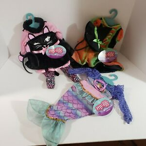 """3 My Life As Halloween Costume For 18"""" Doll Witch Cat Mermaid Costumes New 2021"""