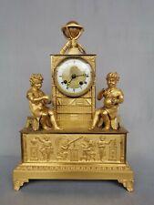 Pendule Bronze doré  l'Astronomie Candlestick Uhr Clock Napoléon Empire Cartel