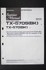 Pioneer tx-570 tx-570s Tuner original additional service-Manual/esquema eléctrico o105