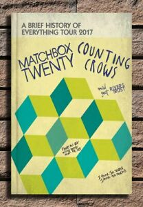 Matchbox 20 and Counting Crows Custom 24x36 27x40 Fabric Poster CX878