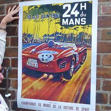Le Mans 1961 Vintage car poster motorsport automobile racing poster-A4