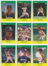 Glenn Davis 1990 Star Company Houston Astros 9-Card Nova Series BB Set #/500