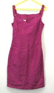 Vintage Jessica McClintock Women's Size 11/12 Pink on Pink Paisley Print Dress