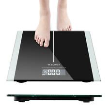 396lb/0.02 Tempered Glass Backlit LCD Digital Bathroom Body Weight Scale 180kg