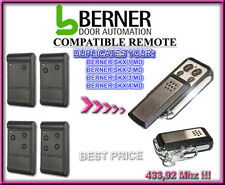 BERNER SKX1MD, SKX2MD, SKX3MD, SKX4MD Compatible remote control, clone 433,92MHz
