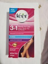 Veet Leg & Body Hair Removal Kit- Sensitive Formula, Ready-to-use Wax Strip Kit