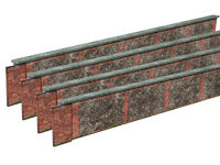 PRE-CUT 8ft STONE & BRICK WALL CARD KIT- N GAUGE / 2MM SCALE FOR MODEL RAILWAY