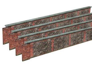 PRE-CUT 8ft STONE & BRICK WALL CARD KIT- N GAUGE / 2MM SCALE FOR MODEL RAILWAY