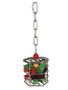 Caitec Small Stainless Treat Cage Bird Toy Parrot Toys Cages Cockatiel Parrotlet