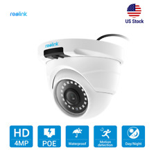 Reolink 4MP PoE IP Camera Home Security Outdoor Night Vision Dome CCTV RLC-420
