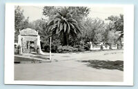 Calistoga, CA   PINERS HOT SPRINGS STREET VIEW OF ENTRANCE & SIGN ROADSIDE RPPC