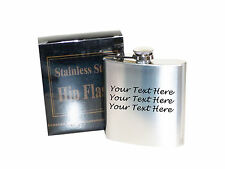 Your own text 5 oz Stainless Steel Hip Flask - Laser Engraved