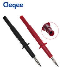 2PCS Brass 4mm Banana Male Plug Test Probe Pin Pen for Multimeter Oscilloscope