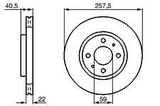 Vetech Front Vented Brake Disc For Fiat Doblo Cargo 01-10 223 1.3 D Multijet