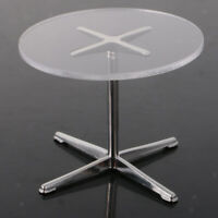 1/12 Dollhouse Miniature Garden Furniture Simple Round Table Coffee Table