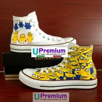 Converse All Star Minions 1 Scarpe Disegnate Handmade Painted Uomo Donna