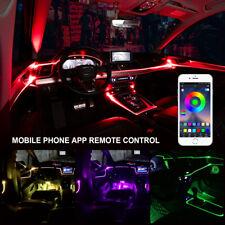 4x LED RGB Auto Lichtleiste Innenraumbeleuchtung Ambientebeleuchtung Set APP
