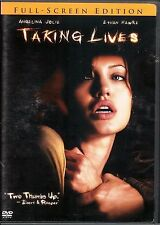 Taking Lives (DVD, 2004, Full Screen Edition) Pre-Viewed