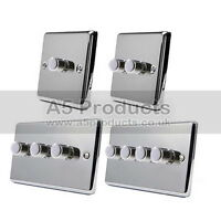 10 Amp 2 Way Push On/Off 400W (Max) Dimmer Switch Polished Chrome CLASSIC Plate