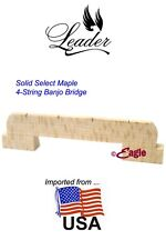 """Leader Banjo Co 4-String USA Solid Select Maple 1/2"""" 2 Footed Bridge"""