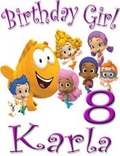 Bubble Guppies Birthday Girl Shirt Add Name AGE Personalized Family Party